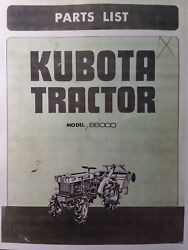 Kubota B6000 Diesel 4x4 And 2wd Farm Tractor And Rotary Tiller Parts Manual