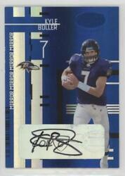 2005 Leaf Certified Materials Mirror Blue Signatures /15 Kyle Boller 9 Auto