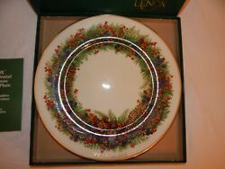 Limited Edition 81-93 Lenox Colonial Christmas Wreath Plates Complete Set -13