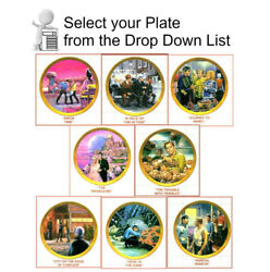1986 Star Trek Episode Plate Collection-series 1- Gold Border-your Choice Or Set