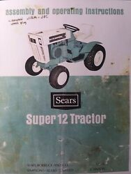 Sears Ss-12 Suburban Super 12 Lawn Riding Garden Tractor Owners Manual 917.25511