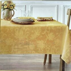 Autumn Vine Damask Tablecloth 60x85 Gold Table Cover Celebration 50th