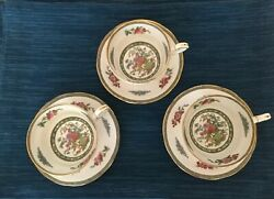 3 Sets Paragon Tree Of Kashmir Tea Or Coffee Cups Saucers And Salad Plates