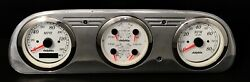 1960 1961 1962 1963 Ford Falcon 3 Gauge Gps Dash Panel Cluster White
