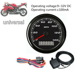 85mm 3-2/5and039and039140mph Gps Speedometer Display Gauge Car Motorcycle Backlight+cable