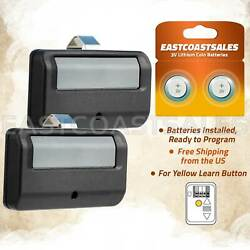 2 For 891lm Garage Remote Control Yellow Learn Button Liftmaster 893lm 953estd