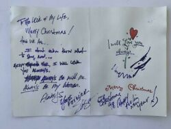 Slash Guns And Roses Handwritten 1998 Christmas Card Signed Autographed Juliens