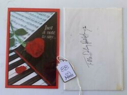 Slash Guns And Roses Handwritten Love Card W/ Sketch Signed Autographed Juliens