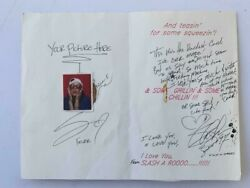 Slash Guns And Roses Handwritten 1997 Custom Made Card Signed Autographed Juliens
