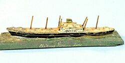 Holland America Lines Cargo Passenger Ship Old Painted Metal Model Paperweight