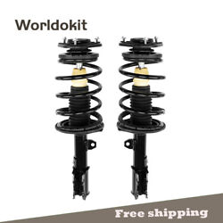 Front Pair Complete Strut Shocks And Coil Springs W/mount For Toyota Corolla 03-08