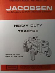 Jacobsen 53500 Hd 195 Super Lawn Garden Tractor Owners Manual Ford Homelite 19.5