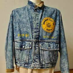 LEVI'S DENIM USN'FLIGHT'JACKET & NAS ALAMEDA PATCH & NAME/VFP-61 STENCIL, LARGE