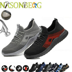 Mens Safety Shoes Steel Toe Work Boots Outdoor Hiking Climbing Sport Trainers