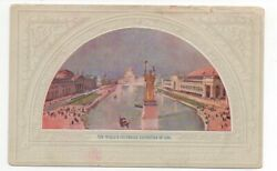 1910 Advertising Postcard Of Painting From Columbian Expo At Central Trust Co Il