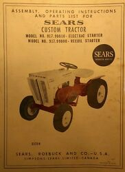 Sears Custom 6 Lawn Garden Tractor And Snow Dozer Blade Owner And Parts 2 Manual S