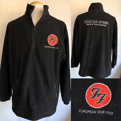 FOO FIGHTERS (2002) One By One European Tour Issued CREW Fleece Jacket Sz Large