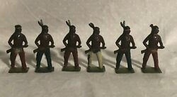 Britains North American Indians With Rifles Lot Of 6 Each