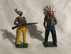 Britains North American Indians Lead Figures Toy Soldiers Nice