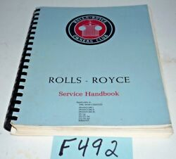 Used Rolls Royce Service Handbook For Pre Wwii Chassis F492
