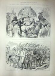 Nineteenth Century Wood / Viceroy Of India In Burmah Sketches By Our Special
