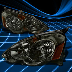 SMOKED HOUSING CRYSTAL TINTED LENS HEADLIGHTAMBER SIGNAL LAMP FOR 02 04 RSX DC5 $89.88