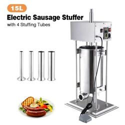 15 L Electric Sausage Stuffer Machines Commercial Vertical Stuffing Meat Press