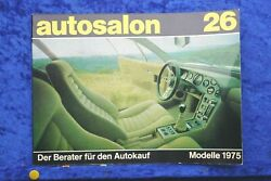 Car Salon In Book Style No. 26 C All Models By 1975 Car Catalogue