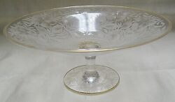 Sinclair Elegant Cut Glass Footed Compote