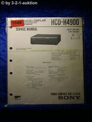 Sony Service Manual Hcg H4900 Tuner Cd Player1548