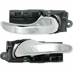 New Inside Front Door Handles Pair Set Chrome Lh Rh For 1999-2004 Ford F150
