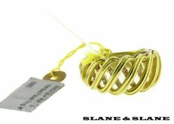 Slane Ventus Pave Diamond Ring In 18k And 925 Sterling Silver New Size 7