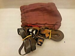 Very Rare Antique Miniatures Tefillin And Small Bag Jewish Judaica 20and039s Palestin