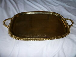 Large Gold Plated Serving Tray