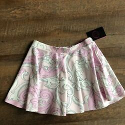New Young Versace Pink Foral Print Skirt