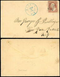 Sep 4 1860 Sparta Wis Cds 36 Dot Grid Patent Cancel On Cover To Pen Yan Ny 26