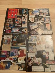 1980 Rare Vintage Misc Disney Collectible Catalog Pages Cartoon Character