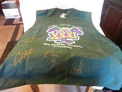 1996 Green Bay Packers Autographed Super Bowl 31 Photo Vest Signed By 8 Players