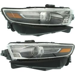 Headlight For 2016-2017 Ford Taurus Pair Driver And Passenger Side