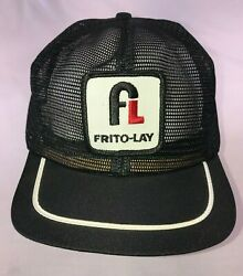Vintage Frito Lay 70and039s 80and039s All Mesh Trucker Hat Cap Snapback Patch Blue
