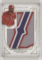 2019 Topps Definitive Collection Nameplate 1/1 Nomar Mazara Letter Z Nc-nm.1
