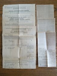 6 1928 Rutland And Central Vermont Railway R.r Company Receipts Bill Of Lading