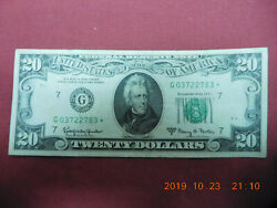 Lot Us Frn Star Notes 20s 50s Federal Reserve Replacement Notes 160.00 Total