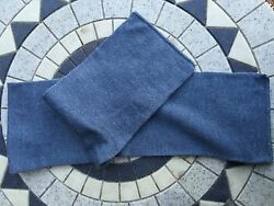 X1 New vintage 1960s Swedish blue wool scarfs / hats military surplus clothing