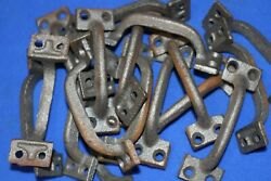 Rusty Cabinet Pulls 3 1/8 Inch Center Cast Iron Need To Paint Hw-01