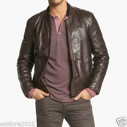 New 725 Marc New York By Andrew Marc Menandrsquos Cash Leather Bomber Jacket Sz L / Xl
