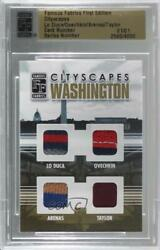 2010 Famous Fabrics First Edition Cityscapes Gold 1/1 Paul Lo Duca Alex Ovechkin