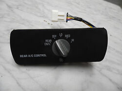 OEM 1999 Chevy Suburban Rear Climate Control Panel Unit, switches back