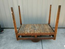 Railroad Factory Cart Coffee Table Steam Punk Furniture Industrial Vtg