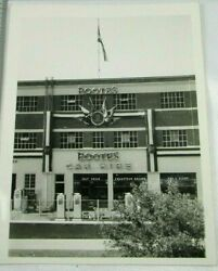Rootes Car Hire 1950s England Vintage Bandw Photo Building Gas Pumps Advertising